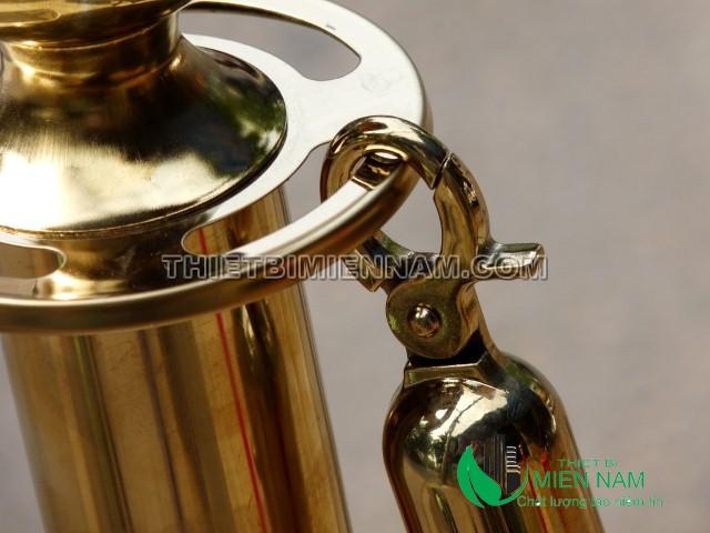 Hình ảnh móc khóa trụ inox dây trùng