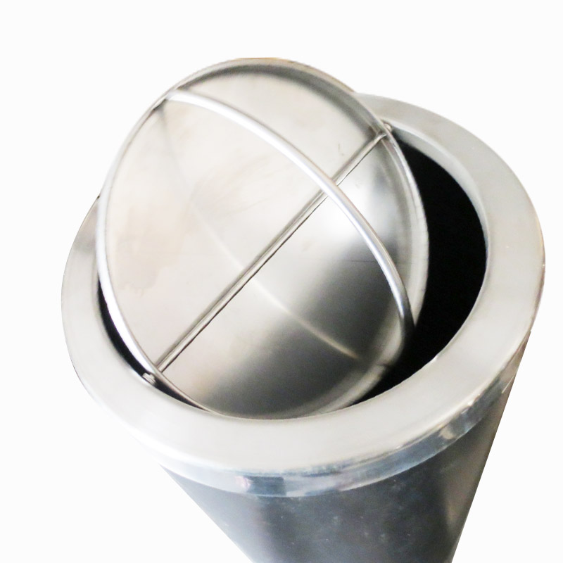 Kết quả hình ảnh cho Thùng rác inox tròn nắp lật