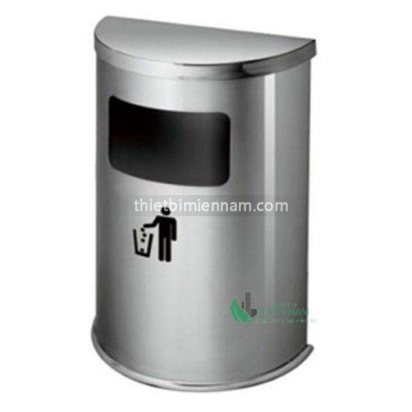 Thùng rác bán nguyệt Inox A51 1