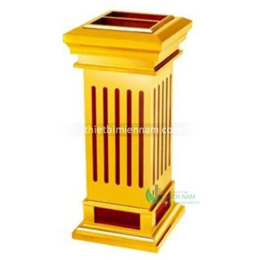 Thùng rác inox mạ vàng giá rẻ A5B 3
