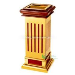 Thùng rác inox mạ vàng giá rẻ A5B 4