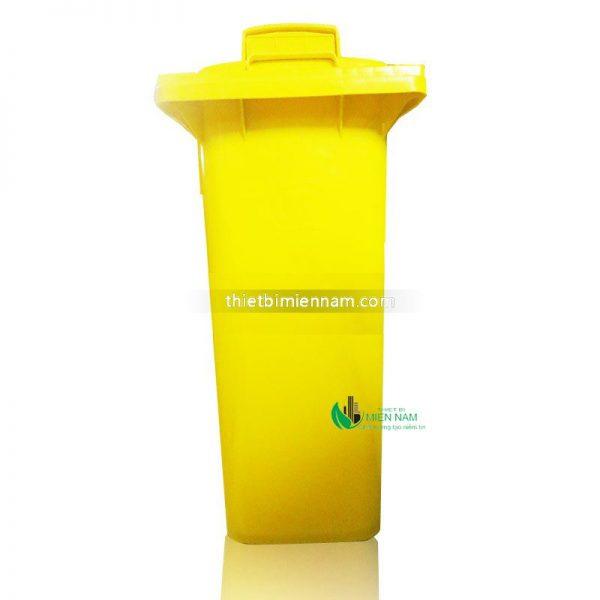 Thùng rác nhựa 120l mầu vàng 2