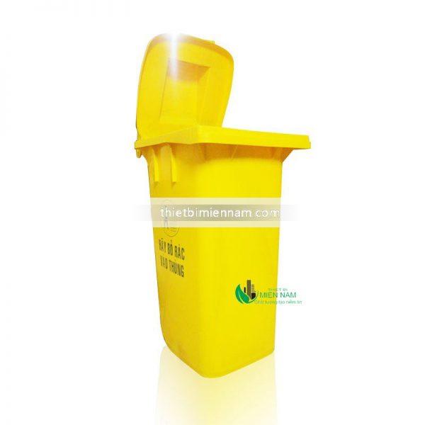Thùng rác nhựa 120l mầu vàng 3