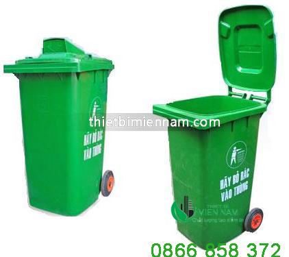 Thùng rác nhựa 120l giá rẻ 2