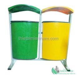 Thùng rác treo đôi nhựa composite 7