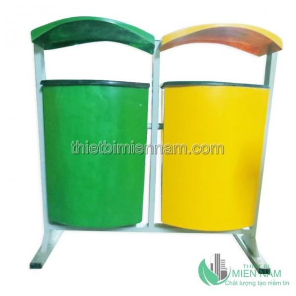Thùng rác treo đôi nhựa composite 1
