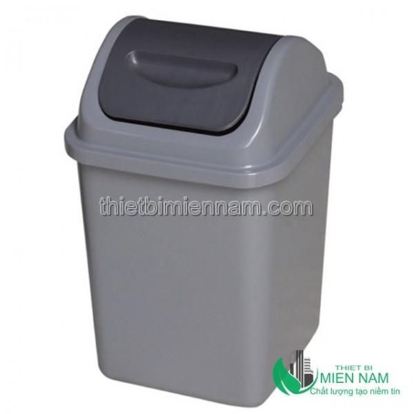 Thùng rác nhựa HDPE nắp bập bênh 10L 1