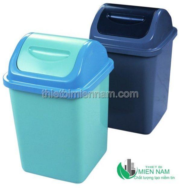 Thùng rác nhựa HDPE nắp bập bênh 10L 3