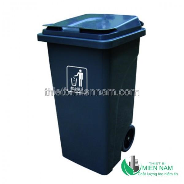 Xe thu dọn rác công cộng 2 bánh 240L 4