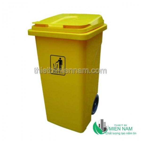 Xe thu dọn rác công cộng 2 bánh 240L 3