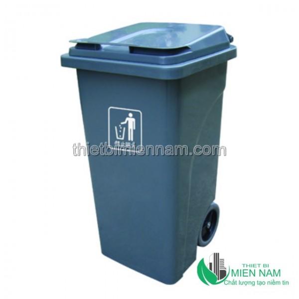 Xe thu dọn rác công cộng 2 bánh 240L 1