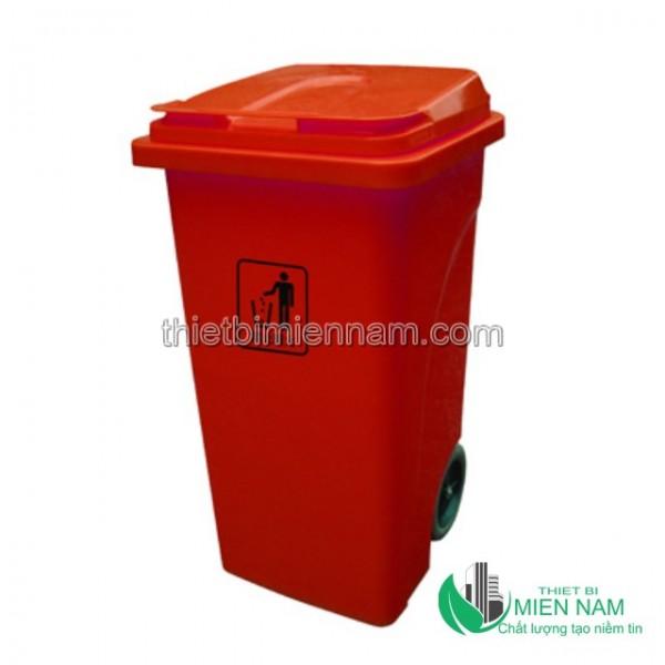 Xe thu dọn rác công cộng 2 bánh 240L 5