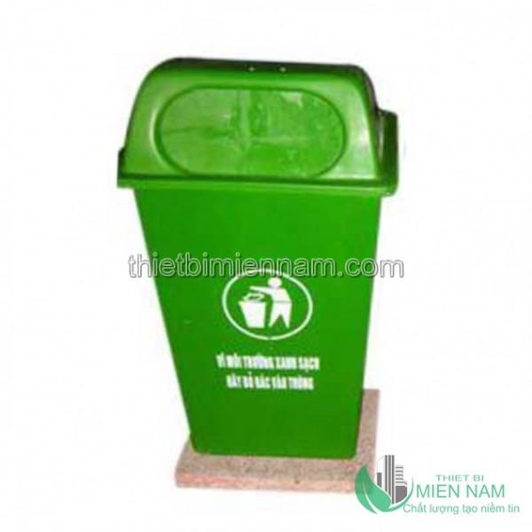 Thùng rác nhựa composite đế đá 50L 1