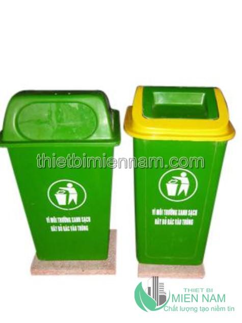 Thùng rác nhựa composite đế đá 50L 2