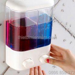 Bình đựng nước rửa tay treo tường đôi 3
