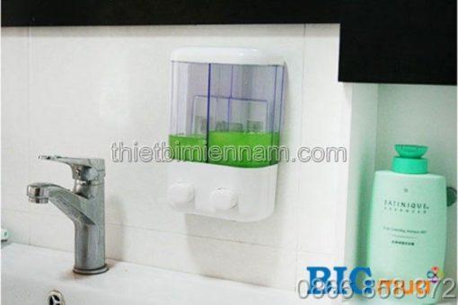 Bình đựng xà phòng rửa tay đôi bằng nhựa 1