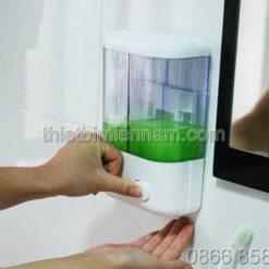 Bình đựng xà phòng rửa tay đôi bằng nhựa 3