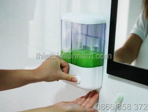 Bình đựng xà phòng rửa tay đôi bằng nhựa 2