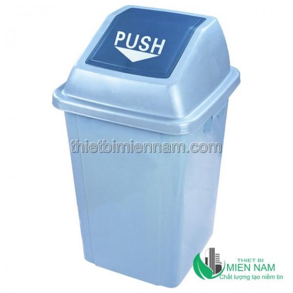 Thùng rác nhựa nắp bập bênh 1