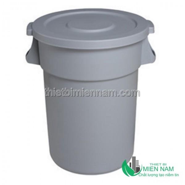 Thùng rác tròn nắp kín giá rẻ 1