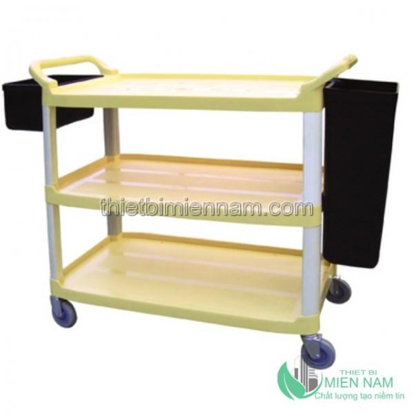 Xe đẩy dọn bàn bằng nhựa 3 tầng 3