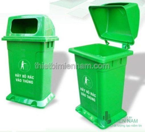 Thùng rác nhựa 68L trong bệnh viện 3