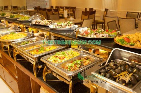 Nồi hâm thức ăn buffet hình chữ nhật 4