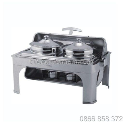 Lò hâm soup buffet chữ nhật inox 1