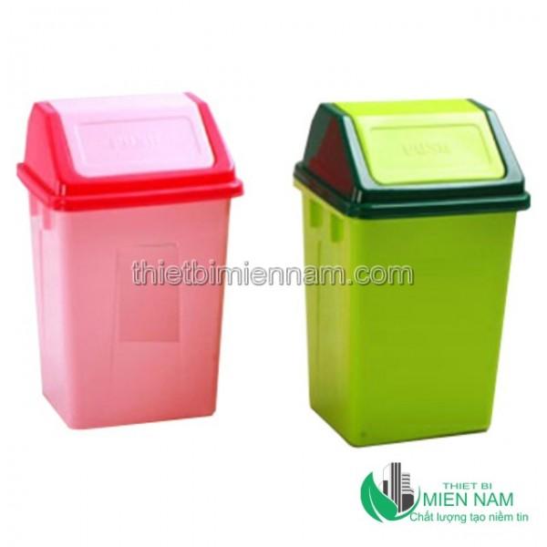Thùng rác nhựa nắp lật gia đình 1