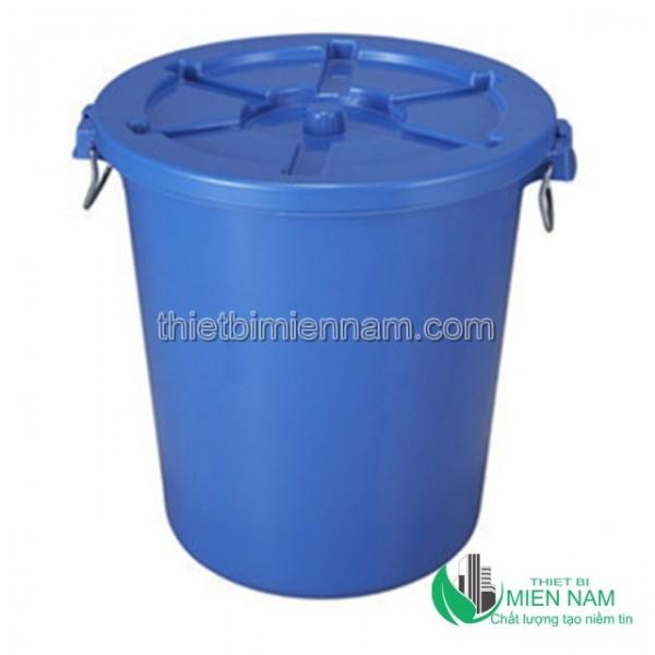 Thùng rác nhựa tròn 90l 1
