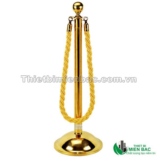 Cột chắn inox mạ vàng sang trọng 1
