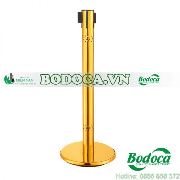 Cột chắn inox trang trí mạ vàng 1