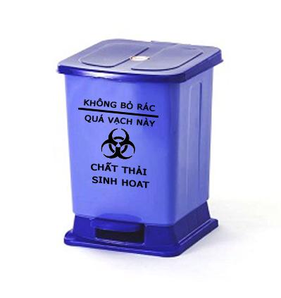 Thùng rác nhựa y tế đạp chân