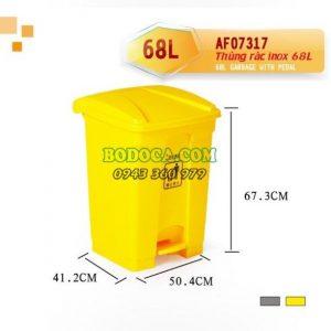 Thùng Rác Nhựa Đạp Chân 68 Lít