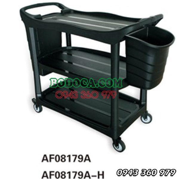 Xe đẩy phục vụ 3 tầng nhựa nhà hàng AF08179A 4