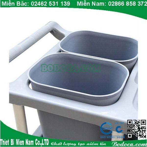 Xe đẩy thu gom bát đĩa khung nhựa 4