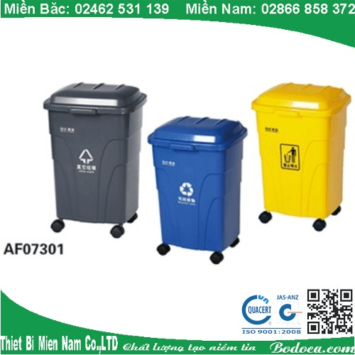 Thùng rác nhựa đạp chân 70 lít giá rẻ tại Sài Gòn 1
