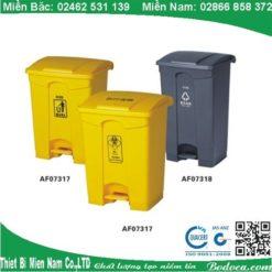 Thùng rác nhựa đạp chân 68L MÀU XÁM 3