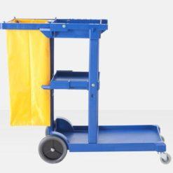 Xe đẩy dọn vệ sinh 3 tầng, xe dọn vệ sinh bằng nhựa nhập nhẩu 4