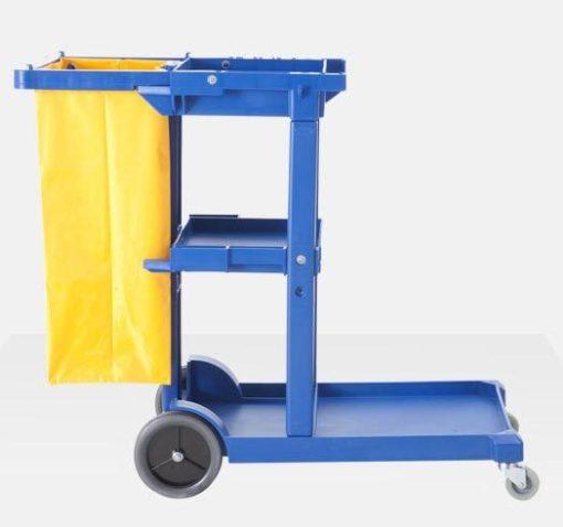 Xe đẩy dọn vệ sinh 3 tầng, xe dọn vệ sinh bằng nhựa nhập nhẩu 2