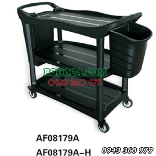 Xe đẩy phục vụ 3 tầng nhựa nhà hàng AF08179A 1