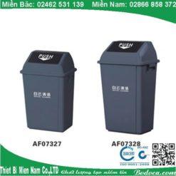 Thùng rác nhựa nắp bập bênh 40l KL-29 3
