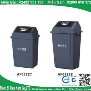 Thùng rác nhựa nắp lật 60L