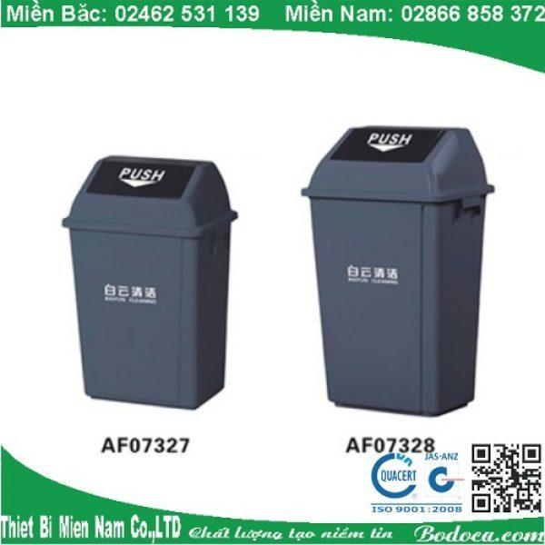 Thùng rác nhựa nắp bập bênh 40l KL-29 1