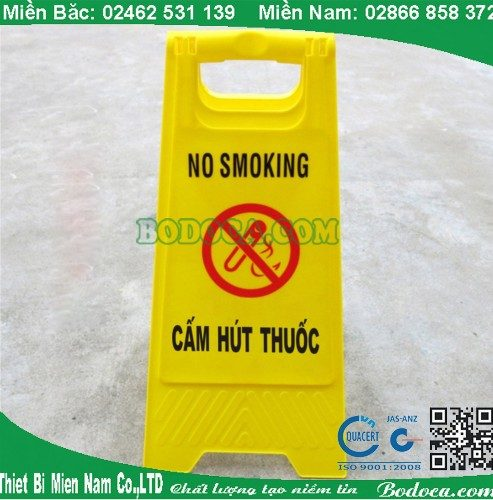 Biển cảnh báo AF03039 cấm hút thuốc bằng nhựa giá rẻ 1