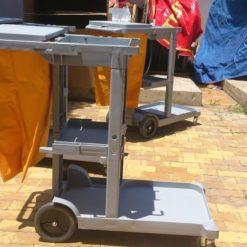 Cung cấp xe đẩy làm vệ sinh bệnh viện chữ L AF08160 4