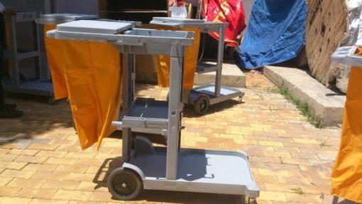 Cung cấp xe đẩy làm vệ sinh bệnh viện chữ L AF08160 1