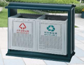Thùng rác 2 ngăn ngoài trời dùng cho trường hoc giá rẻ 1