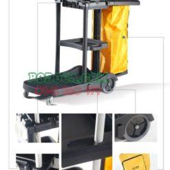 Đại lý bán xe đẩy dọn vệ sinh bằng nhựa cao cấp AF08180 3