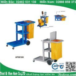Cung cấp xe đẩy làm vệ sinh bệnh viện chữ L AF08160 5